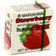 Жевательная резинка Marukawa Strawberry (Марукава) со вкусом клубники 4 шарика